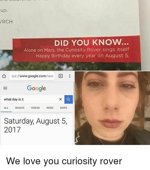 google what day is it