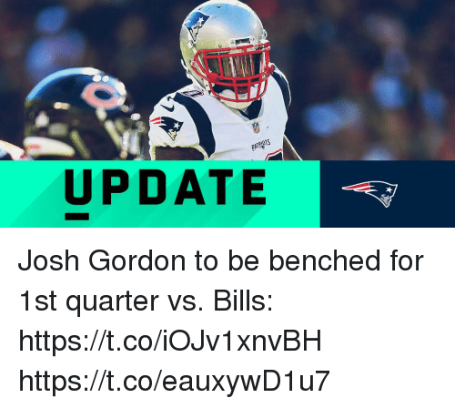 5bcb0d8c5 Memes, Josh Gordon, and Bills: UPDATE Josh Gordon to be benched for 1st