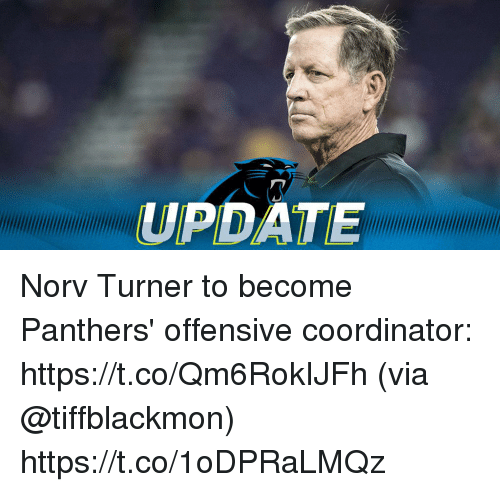 Memes, Panthers, and 🤖: UPDATE Norv Turner to become Panthers' offensive coordinator: https://t.co/Qm6RokIJFh (via @tiffblackmon) https://t.co/1oDPRaLMQz