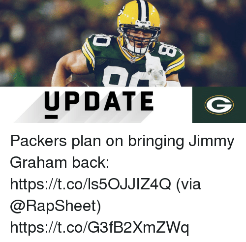 Memes, Jimmy Graham, and Packers: UPDATE Packers plan on bringing Jimmy Graham back: https://t.co/ls5OJJIZ4Q (via @RapSheet) https://t.co/G3fB2XmZWq