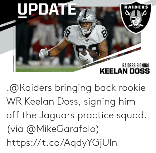 check out 7422f f2bac UPDATE RAIDERS RADS RAIDERS SIGNING Bringing Back Rookie WR ...
