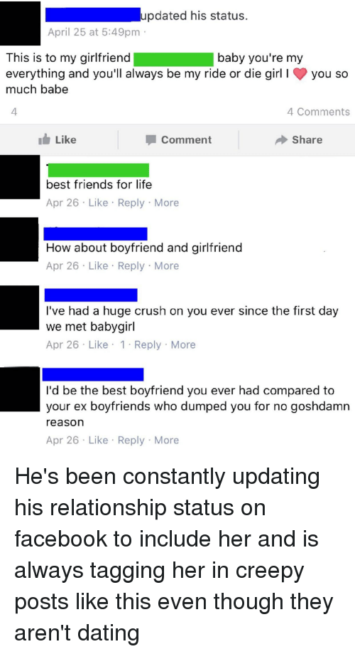 Updated His Status April 25 At 549pmm This Is To My Girlfriend