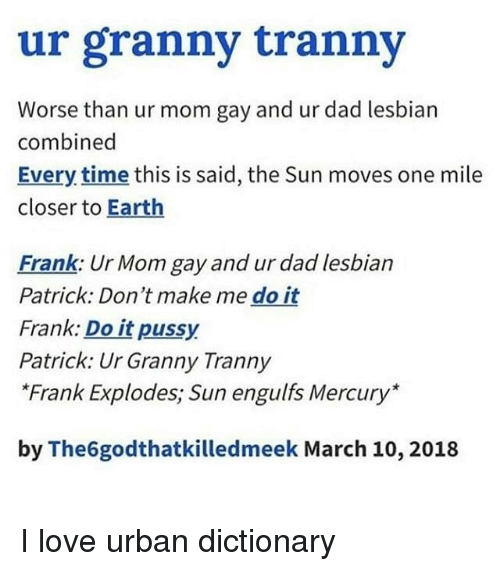 tranny urban dictionary