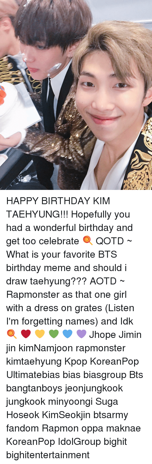 Ur Happy Birthday Kim Taehyung Hopefully You Had A Wonderful Birthday And Get Too Celebrate Qotd What Is Your Favorite Bts Birthday Meme And Should I Draw Taehyung Aotd
