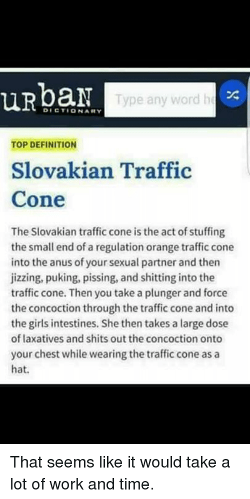 urbar type any word he dictionary top definition slovakian traffic 24674221 25 best slovakian traffic cone memes takes memes, sexual memes