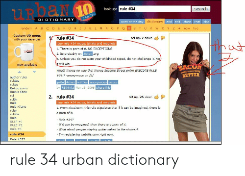 UROAN 10 Search Look Up Rule #34 Years DICTIONARY Word of the Day