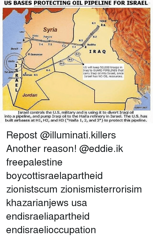 US BASES PROTECTING OIL PIPELINE FOR ISRAEL Tirkst K1 RA Syria