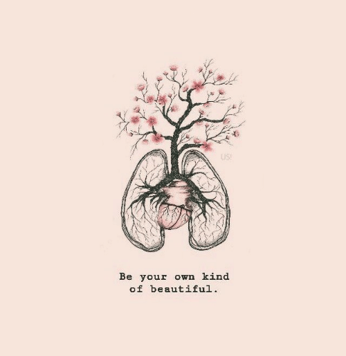 Beautiful, Own, and Your Own: US  Be your own kind  of beautiful