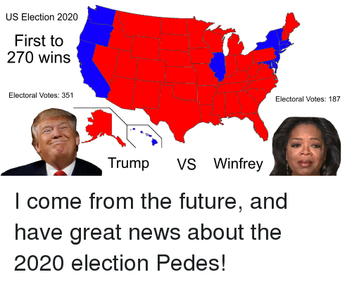 US Election 2020 First to 270 Wins Electoral Votes 351 ...