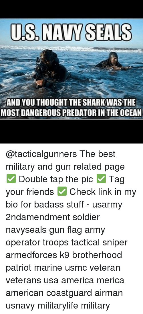 US NAVY SEALS AND YOUTHOUGHT THE SHARK WAS THE MOST
