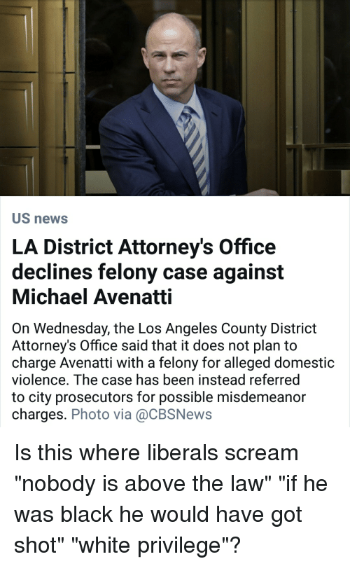 US News LA District Attorney's Office Declines Felony Case Against