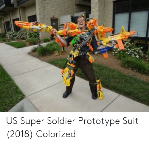 Prototype, Super, and Soldier: US Super Soldier Prototype Suit (2018) Colorized