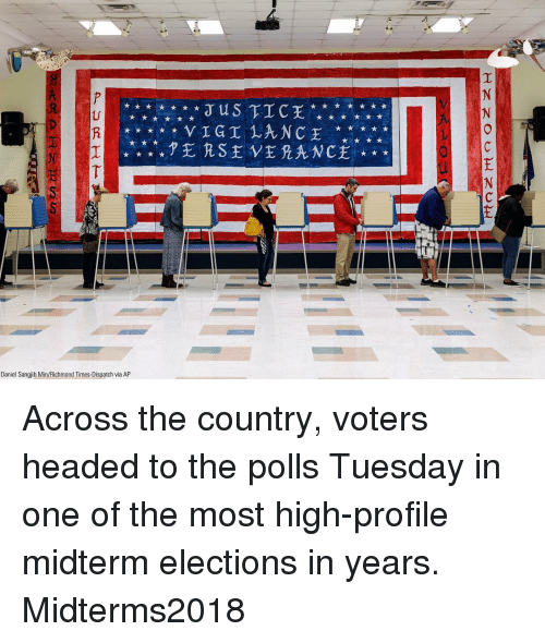 Memes, 🤖, and Richmond: US TIC  Daniel Sangjib Min/Richmond Times-Dispatch via AP Across the country, voters headed to the polls Tuesday in one of the most high-profile midterm elections in years. Midterms2018