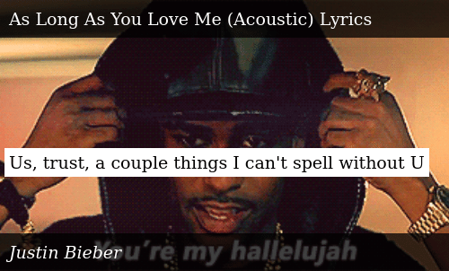 Us Trust a Couple Things I Can't Spell Without U | Donald