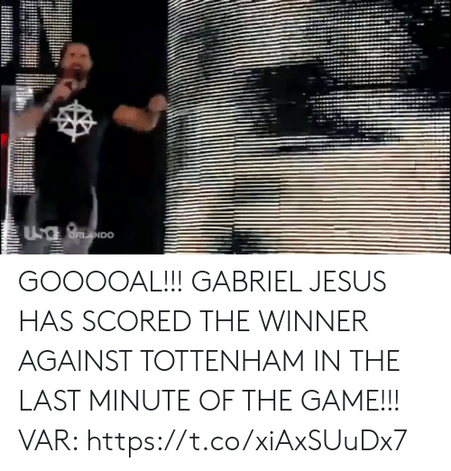 Jesus, Soccer, and The Game: UsaBNDO GOOOOAL!!! GABRIEL JESUS HAS SCORED THE WINNER AGAINST TOTTENHAM IN THE LAST MINUTE OF THE GAME!!!  VAR: https://t.co/xiAxSUuDx7