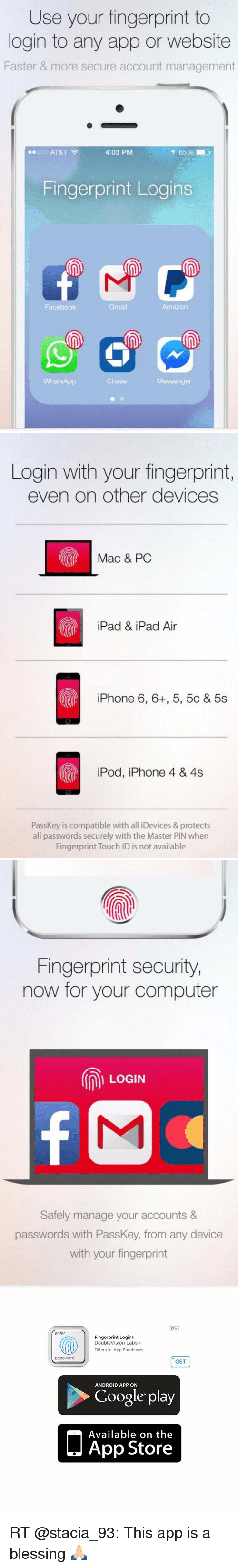 Use Your Fingerprint to Login to Any App or Website Faster