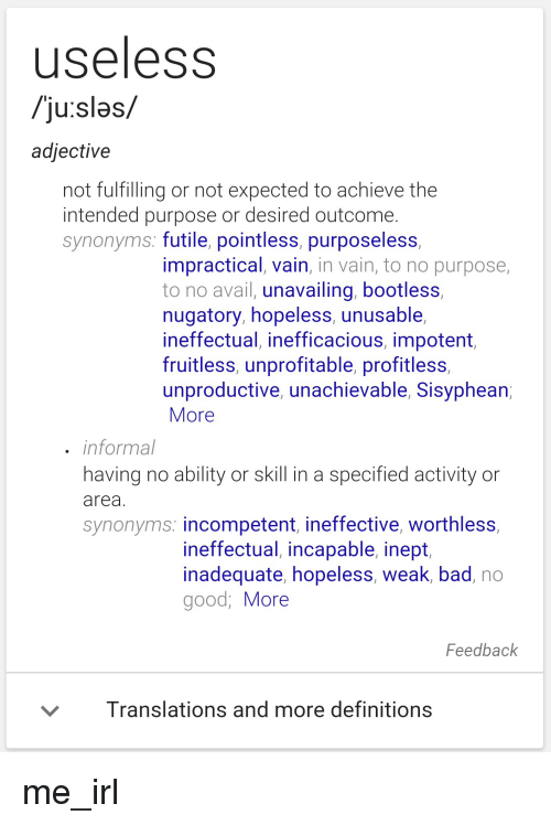 not good definition