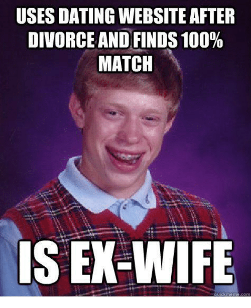 Ex wife on dating site