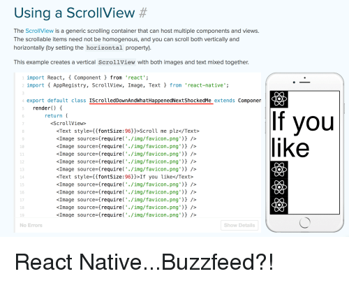 Using a ScrollView # the ScrollView Is a Generic Scrolling
