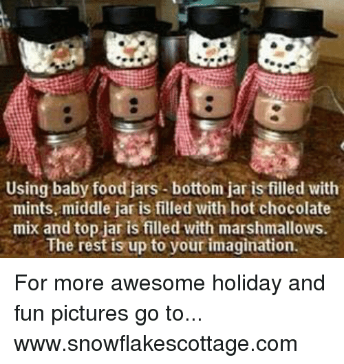 Using Baby Food Jars Bottom Jar Is Filled With Mints Middle Jar Is