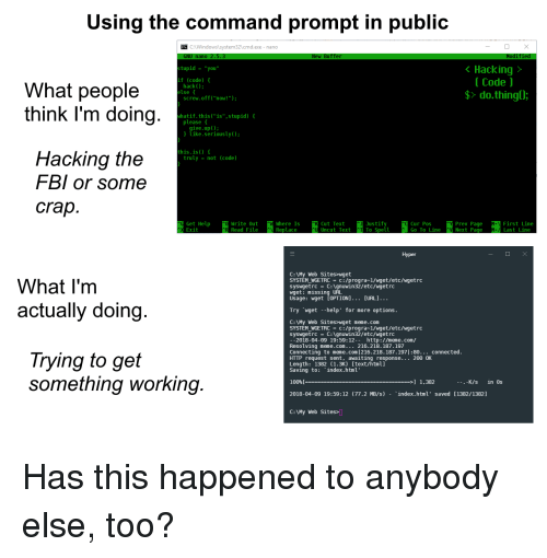 Using the Command Prompt in Public CWindowslsystem32cmdexe- Nano