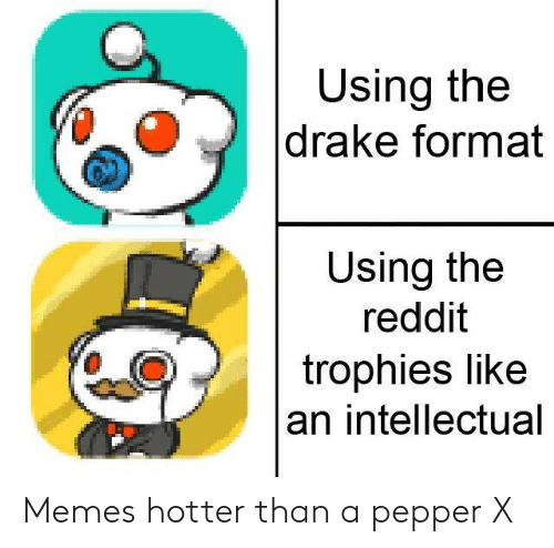 Using the Drake Format Using the Reddit Trophies Like an