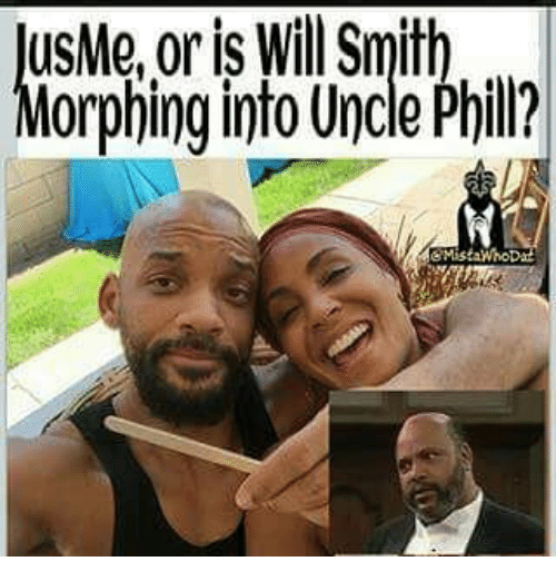Memes, Will Smith, and 🤖: USMe, or is Will Smith  orphing into Uncle Phill?
