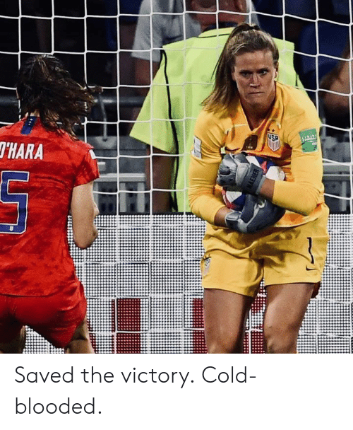 Cold, Saved, and Victory: USP  THARA  AEHER Saved the victory.  Cold-blooded.