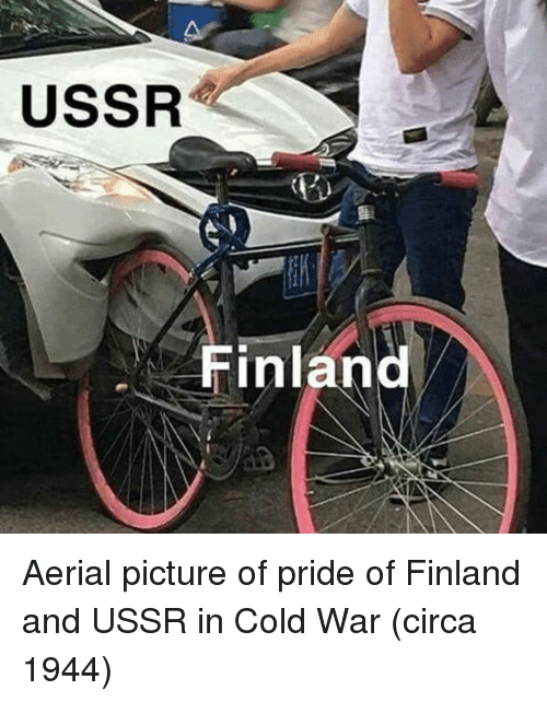 Cold, Ussr, and Cold War: USSR  Finland Aerial picture of pride of Finland and USSR in Cold War (circa 1944)