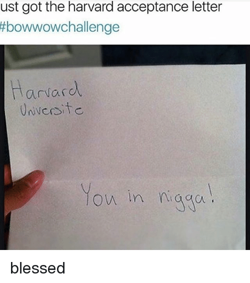 Ust got the harvard acceptance letter bowwowchallenge harvard ow in blessed memes and harvard ust got the harvard acceptance letter bowwowchallenge harvard thecheapjerseys Image collections