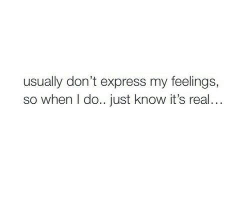 can t express my feelings
