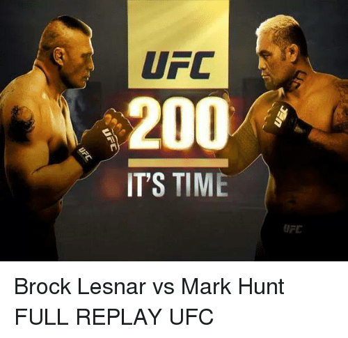Brock Lesnar Vs Mark Hunt