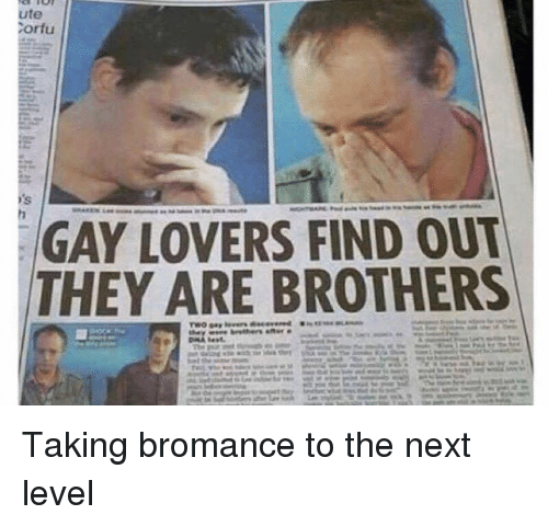 Gay Lovers ute tortu gay lovers find out they are brothers taking bromance to