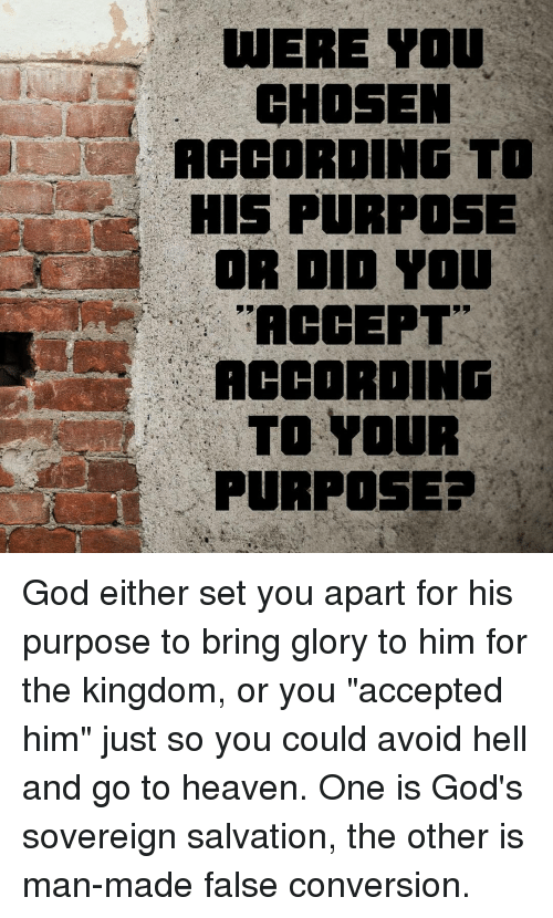 utere you chosen according to his purpose or iii you accept