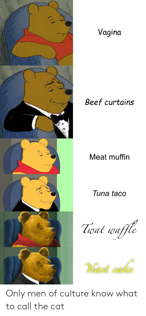 Vagina Beef Curtains Meat Muffin Tuna Taco Lwat Waffle Only