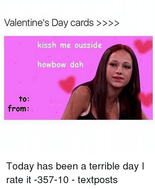 terrible valentines cards