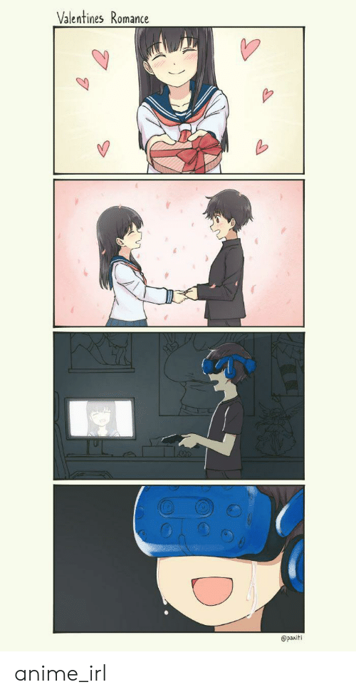 Anime, Irl, and Anime_irl: Valentines Romance  @paxiti anime_irl