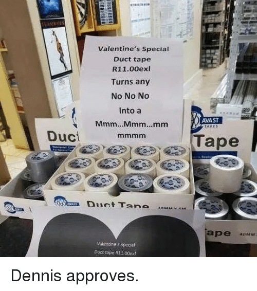 Valentine's Special Duct Tape R1100exi Turns Any No No No Into a レ