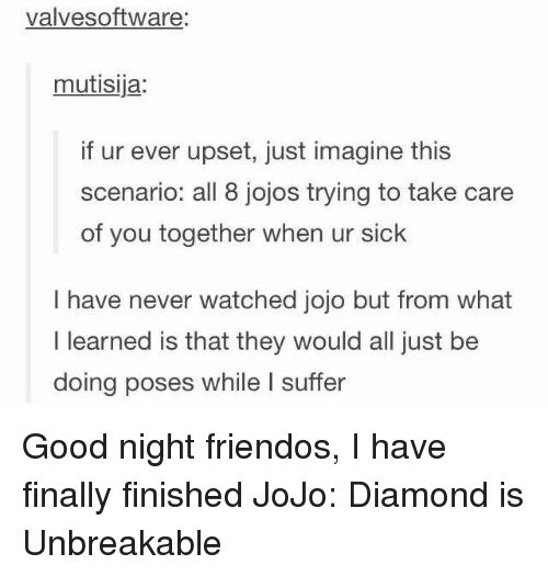 Love Each Other When Two Souls: 25+ Best Memes About Jojo Diamond Is Unbreakable