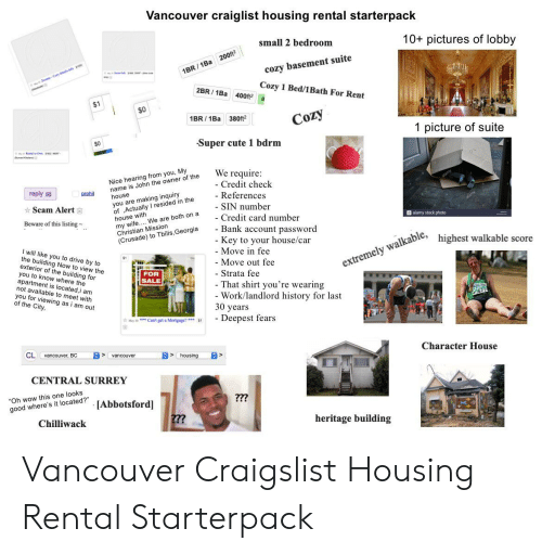 Astonishing Vancouver Craiglist Housing Rental Starterpack 10 Pictures Download Free Architecture Designs Grimeyleaguecom