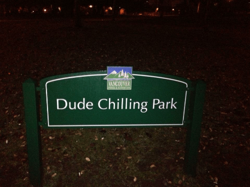 Dude, Vancouver, and Park: VANCOUVER  Dude Chilling Park