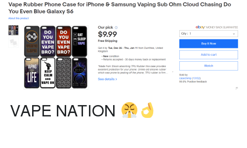 Vape Rubber Phone Case for iPhone & Samsung Vaping Sub Ohm