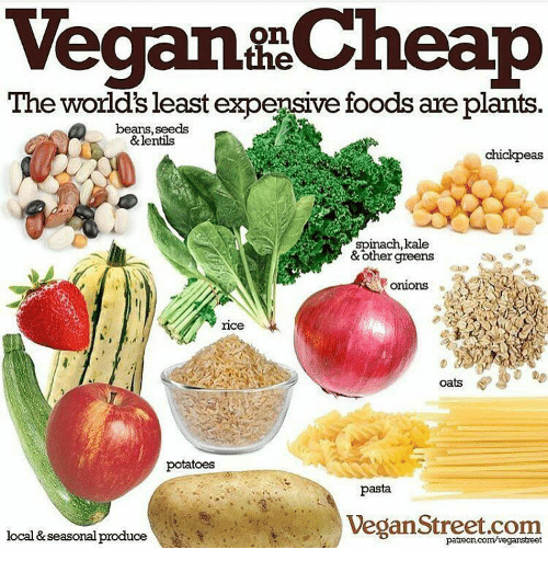 Vegan Cheap The Worlds Least Expensive Foods Are Plants Beans Seeds