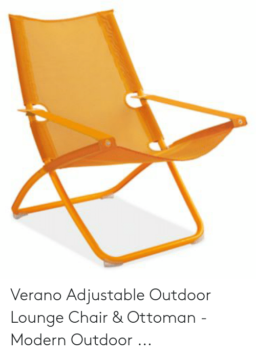 Enjoyable Verano Adjustable Outdoor Lounge Chair Ottoman Modern Ocoug Best Dining Table And Chair Ideas Images Ocougorg