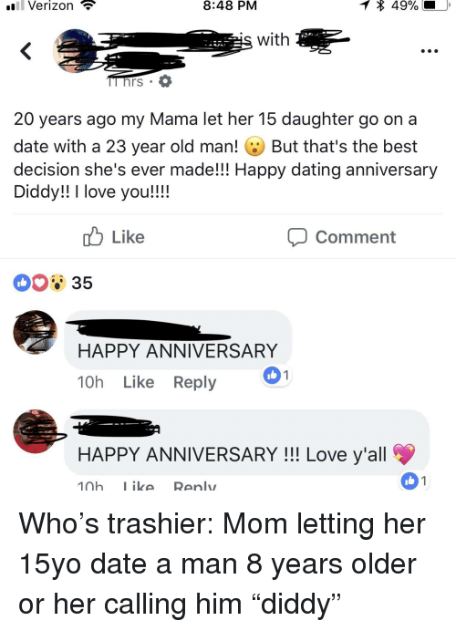 20 year old dating 15 year old