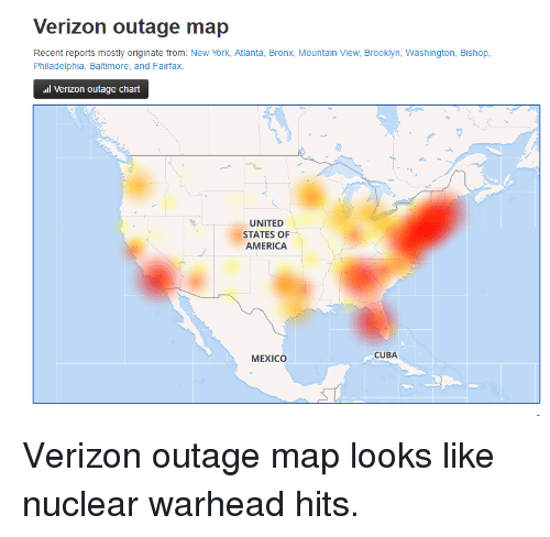 Verizon Outage Map Recent Reports Mostly Originate From New York ...