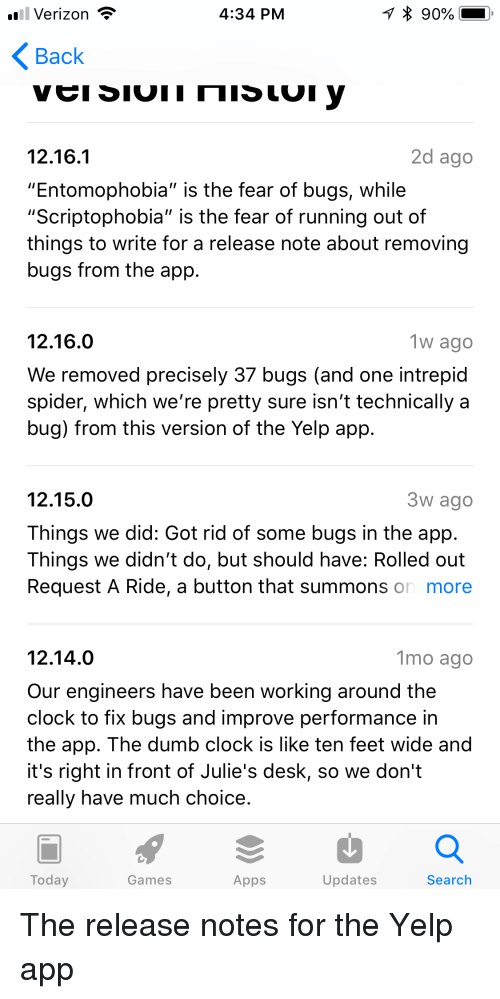 Verizon T 434 PM Back 2d Ago 12161 Entomophobia Is the Fear of Bugs