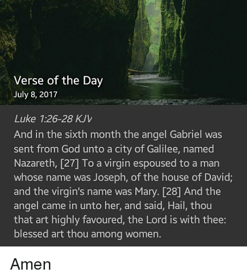 Verse of the Day July 8 2017 Luke 126-28 KJV and in the