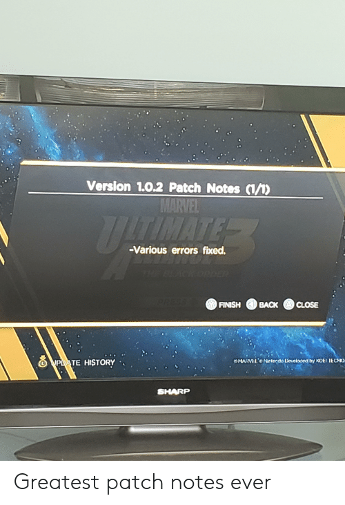 Verslon 102 Patch Notes 1 MARVEL UTIMATER -Various Errors Fixed