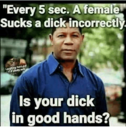 i suck good dick